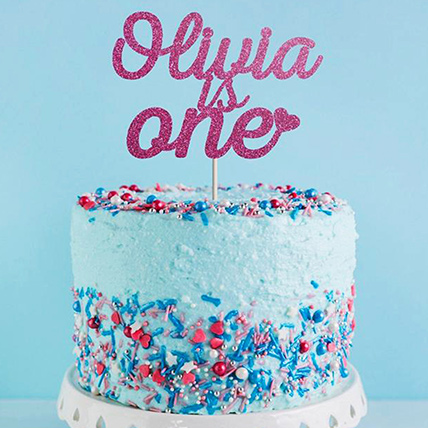 Vanilla Love First Birthday Cake: 1 year birthday cake