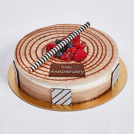 Half Kg triple chocolate Cake For Anniversary: Wedding Anniversary Cake