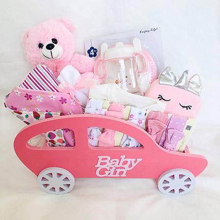 Car Themed Baby Girl Hamper: Gifts for Kids