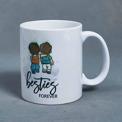 Besties Forever White Mug: Friendship Day Gift Ideas