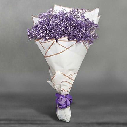 Grand Posy Of Purple Gypso: Luxury Flowers Dubai
