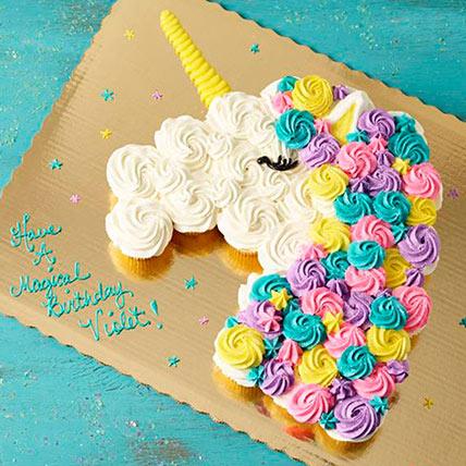 36 Pcs Unicorn Pull Apart Cupcakes: Unicorn Cake Dubai