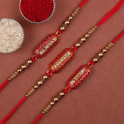 Set of 3 Capsule Rakhis: Set of 3 Rakhi