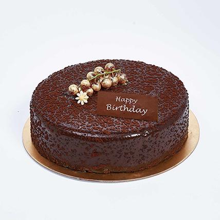 Dark Chocolate Birthday Cake: