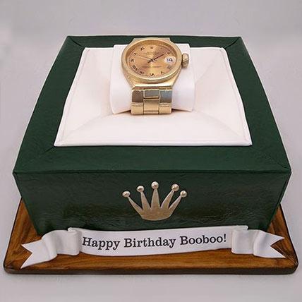 3D Rolex Watch Cake: Anniversary Designer Cakes