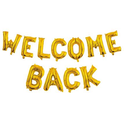 Welcome Back Alphabet Balloons: