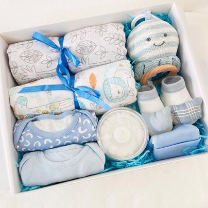 Blue Baby Love Hamper: Baby Gifts in Dubai