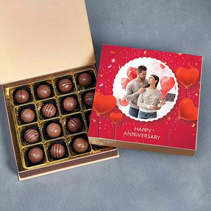 Anniversary Personalised Chocolate Box: Personalised Chocolates