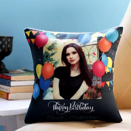 Personalised Birthday Balloons Cushion: