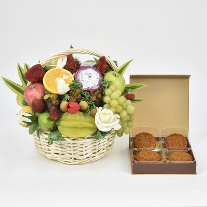 Exotic Moon Basket and Fruits Basket: Fruit Basket Dubai