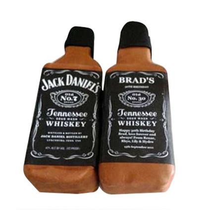 Designer Jack Daniels Fondant Cake: Farewell Cake Ideas