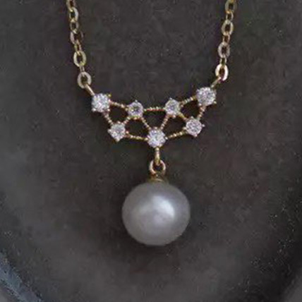 Pearl CZ Necklace: Artificial Jewellery