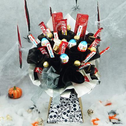 Dancing Skull Treats Bouquet: Halloween Candy