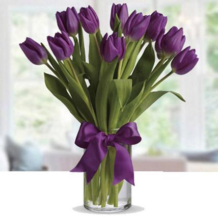Purple Tulip Arrangement LB: Send Gifts to Lebanon