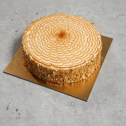 1Kg Yummy Butterscotch Cake QT: Cakes to Doha