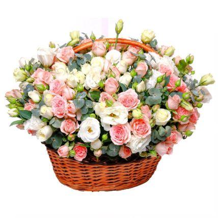 Basket Of Mesmerizing Flowers: Flower Delivery Qatar
