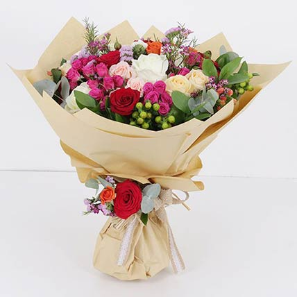 Mixed Flower Stems Bouquet: Gift Delivery in Qatar