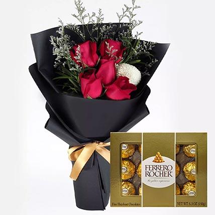 Romantic Red Roses & Ferrero Rocher: Send Combos To Qatar
