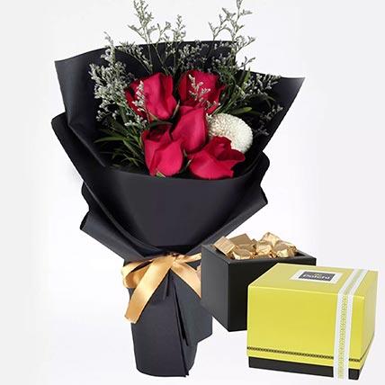 Romantic Red Roses & Patchi Chocolates: Send Patchi Chocolates to Qatar