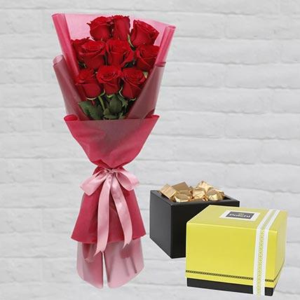 Romantic Red Roses Posy & Patchi Chocolates: Patchi Chocolates