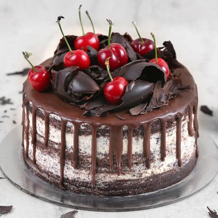 Delicate Black Forest Cake Half Kg: Send Gifts to Saudi Arabia