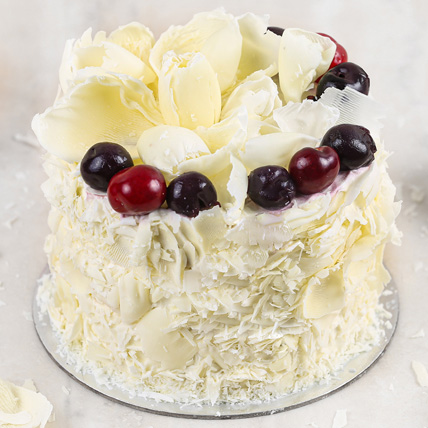 Heavenly White Forest Cake Half Kg: Cakes To Abha