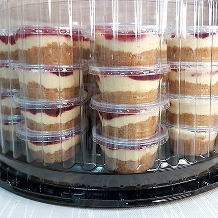 Classic Strawberry Mini Cheesecake 25 Pcs: Cakes To Dammam