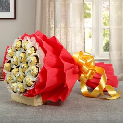 24Pcs Ferrero Bouquet: Valentines Day Gifts to Saudi Arabia
