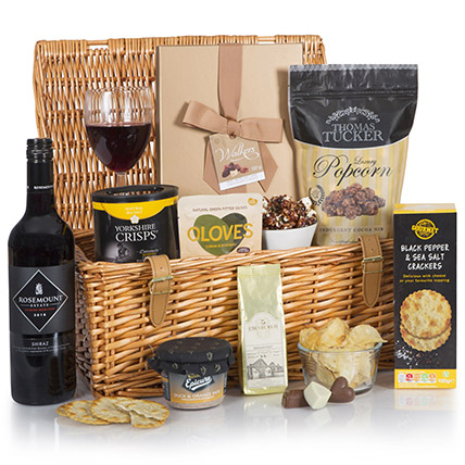 Luxury Basket Of Snacks: Send Gifts to UK