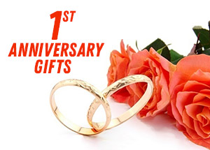 Gifts on 1st Wedding Anniversary