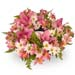 Pink & White Flowers Wreath