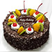 Chocolate Cream Fruit Cake
