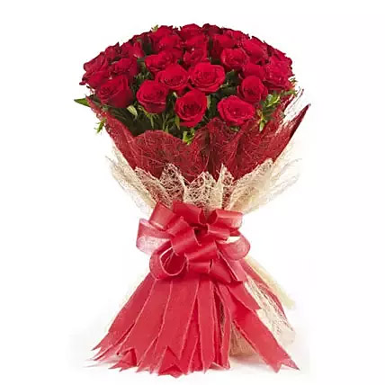 Passionate Love 50 Velvety Red Roses Bunch