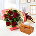 6 Red Roses and Godiva Chocolate Combo QT