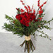Red Roses and Ilex Berries Bouquet QT