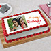 Celebration Photo Cake Eggless 2 Kg Pineapple Cake