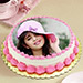 Heavenly Photo Cake 1 Kg Vanilla Cake