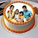 Sizzling Round Personalized Cake 1 Kg Vanilla Cake