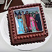 Square Photo Cake Eggless 2 Kg Black Forest Cake