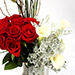 Graceful Roses and Calla Lilies In Vase SG