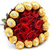 Bunch of Chocolates N Roses