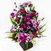 Elegant Basket Of Orchids N Seasonal Flowers