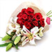 Roses N Lilies Mix Bunch