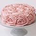 Pink Rose Chocolate Cake