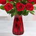 Red Rose With Vase