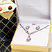 Silver Tone Crystal Jewelry Gift Set