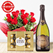 Sparkling Wine Roses & Choco