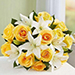 Yellow Rose And White Lily Bouquet