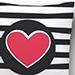 Zebra Lines Heart Cushion
